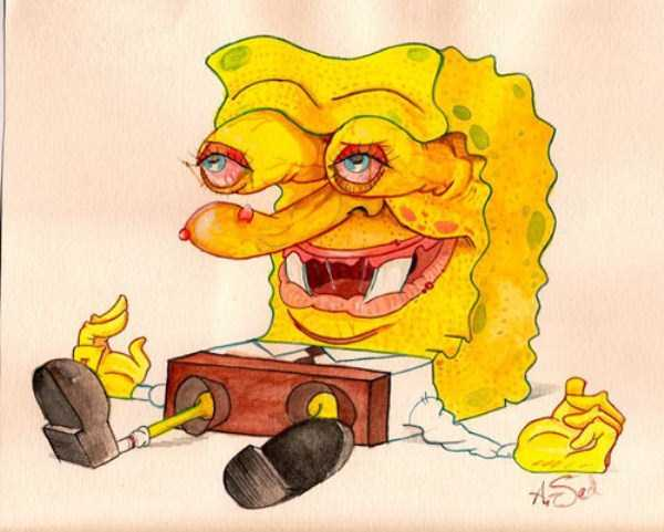 bizarre-weird-spongebob-fan-art-21